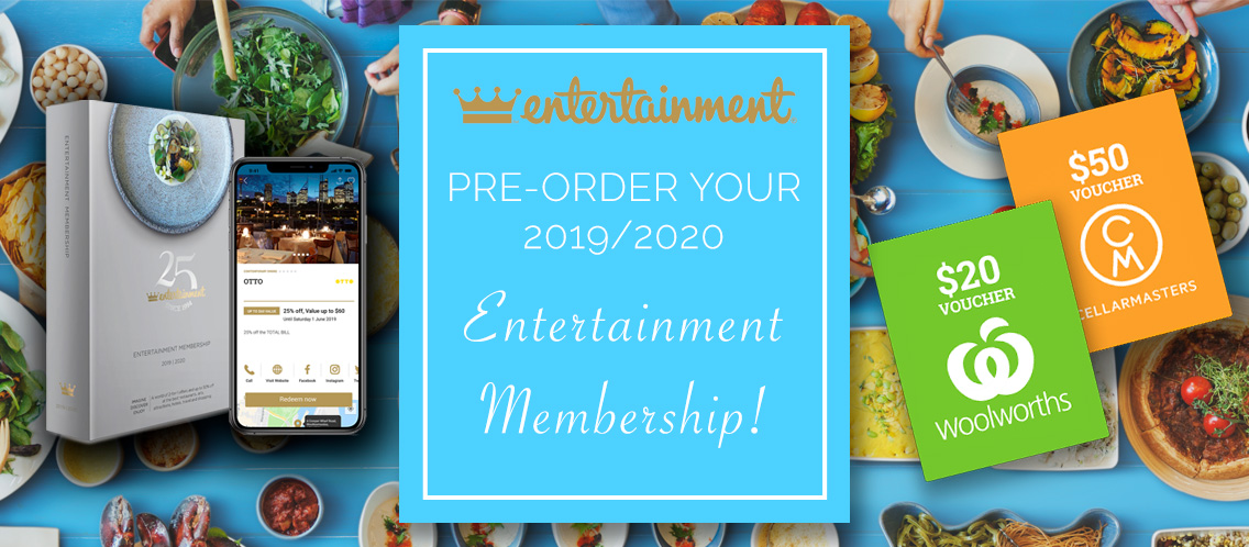 Pre-Order your Entertainment Books